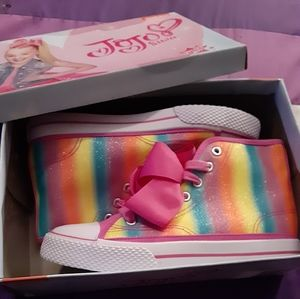 Girls brand new JoJo midhigh tops sneakers